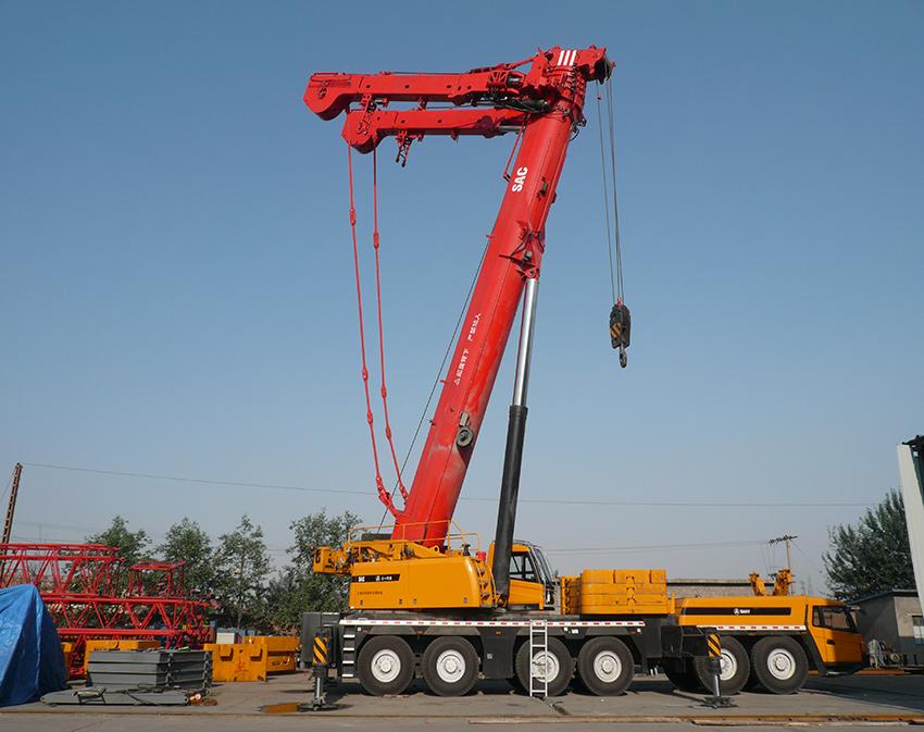 350吨吊车试车现场