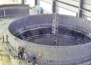 高炉炉壳焊接